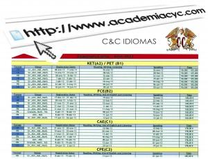 calendario examenes cambridge web
