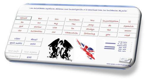tabla inglés