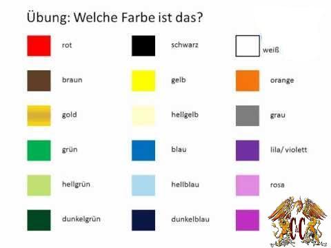 colores aleman
